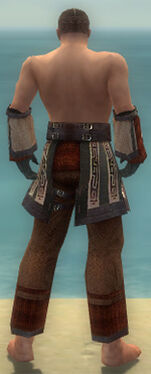 Monk Ancient Armor M gray arms legs back