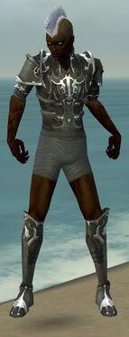 Necromancer Tyrian Armor M gray chest feet front