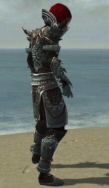 Necromancer Asuran Armor M gray side