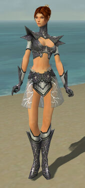 Elementalist Stormforged Armor F gray front