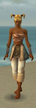 Monk Vabbian Armor F gray arms legs front