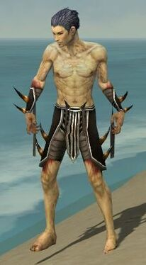 Necromancer Ancient Armor M gray arms legs front
