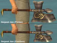 Serpent Axes comparison