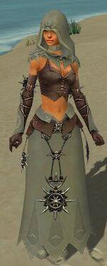 Dervish Elite Sunspear Armor F gray front