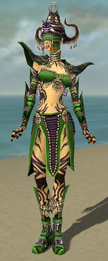 Ritualist Obsidian Armor F dyed front