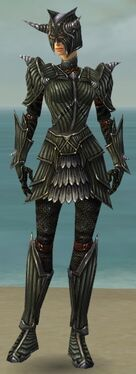 Warrior Wyvern Armor F gray front
