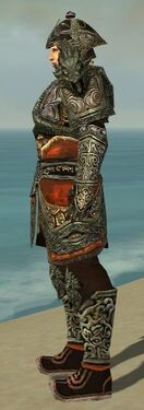 Warrior Elite Canthan Armor M gray side alternate