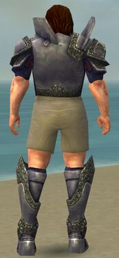 Warrior Platemail Armor M gray chest feet back