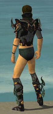 Assassin Elite Kurzick Armor M gray chest feet back