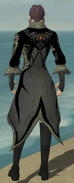 Elementalist Elite Kurzick Armor M gray back