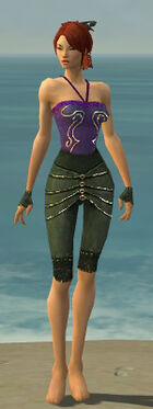 Mesmer Elite Luxon Armor F gray arms legs front