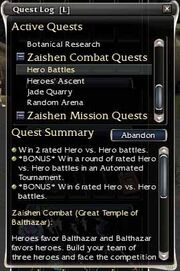 Fourth zaishen quest