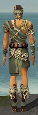 Ritualist Canthan Armor M gray back
