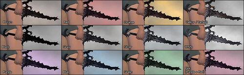 Demon Fangs dye chart