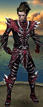 Necromancer Luxon Armor M gray front