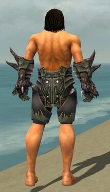 Warrior Primeval Armor M gray arms legs back