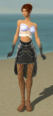 Elementalist Elite Flameforged Armor F gray arms legs front