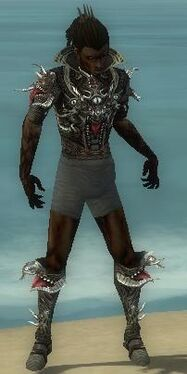 Necromancer Elite Canthan Armor M gray chest feet front