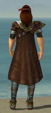 Ranger Druid Armor M gray chest feet back