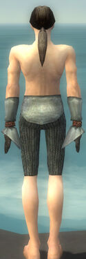 Elementalist Ancient Armor M gray arms legs back