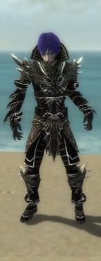 Necromancer Elite Luxon Armor M gray front