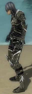 Necromancer Elite Profane Armor M gray side