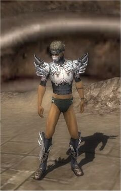 Assassin Asuran Armor M gray chest feet front