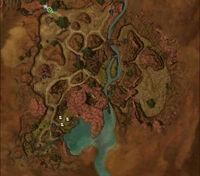 Barbarous Shore map