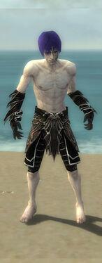 Necromancer Elite Luxon Armor M gray arms legs front