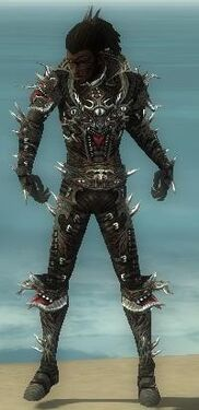 Necromancer Elite Canthan Armor M gray front