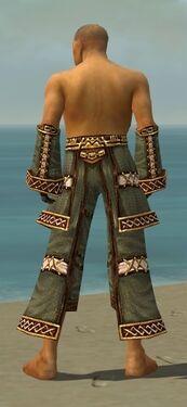 Monk Elite Kurzick Armor M gray arms legs back