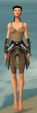 Ranger Kurzick Armor F gray arms legs front