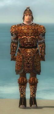 Warrior Canthan Armor M dyed front