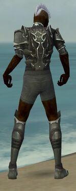 Necromancer Tyrian Armor M gray chest feet back