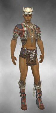 Ritualist Asuran Armor M gray chest feet front