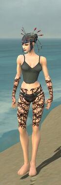 Necromancer Elite Scar Pattern Armor F gray arms legs front