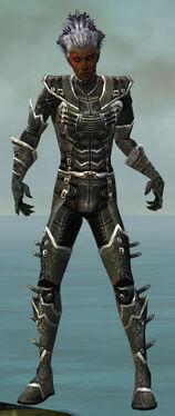 Necromancer Kurzick Armor M gray front