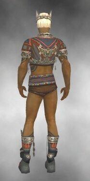 Ritualist Asuran Armor M gray chest feet back