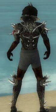 Necromancer Elite Canthan Armor M gray chest feet back