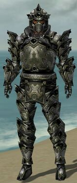 Warrior Obsidian Armor M gray front