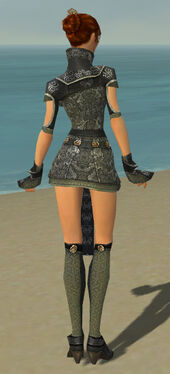Elementalist Canthan Armor F gray back