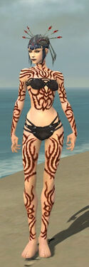 Necromancer Scar Pattern Armor F dyed front