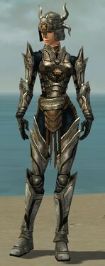 Warrior Elite Sunspear Armor F gray front