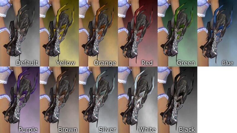 Dragon Gauntlets dye chart