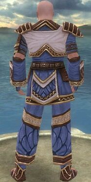 Monk Elite Canthan Armor M dyed back