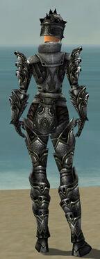 Warrior Obsidian Armor F gray back