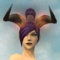 Demonic Horns gray front