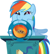 Dash with gyro bowl by grandilfromponychan-d3gy4ze