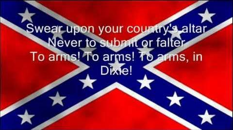 To arms in Dixie - Lyrics