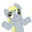 Shrugpony derpy hooves by moongazeponies-d3cvjx6